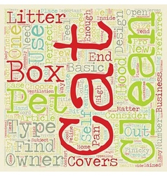 Perfect cat box for your cat text background vector