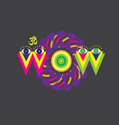 Wow art poster vector