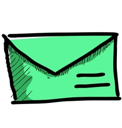 Mail icon sketch vector