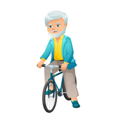 An old active man with vector