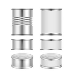 Set of canned goods vector