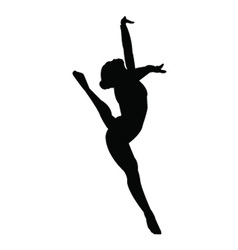 Gymnastics girl silhouette vector