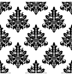 Seamless damask style floral wallpaper vector