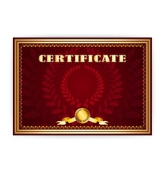 Horizontal old certificate with a laurel wreath vector image