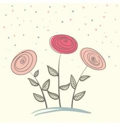 Three flowers vector
