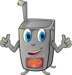 Stove cartoon vector