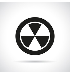 Radiation hazard symbol vector