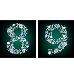 Crystal numbers vector image