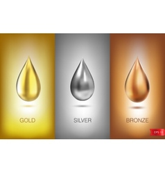 Oil liquid metal vector image