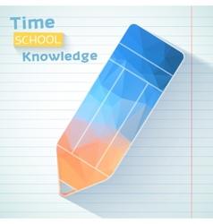 Polygonal pencil school background design vector