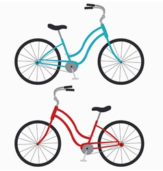 Two bicycles vector
