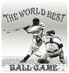 World best ballgame vector