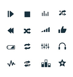 Set of audio icons vector