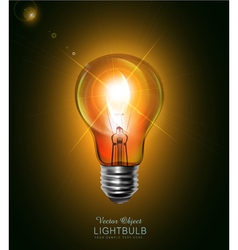 Light bulb glowing in the dark vector