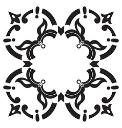Hand drawing decorative tile frame italian vector