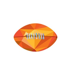 American football ball low polygon vector