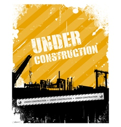 Vintage grunge under construction background vector