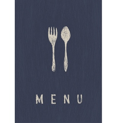 menu A4 format template vector image