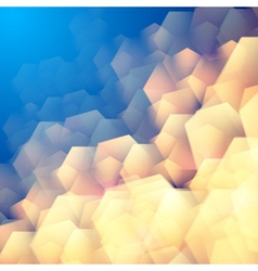Abstract background with hexagonal elements vector image
