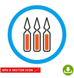 Ampoules eps rounded icon vector