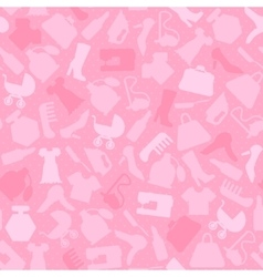 Background for woman shopping items on seamless vector