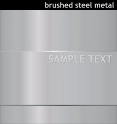 brushed steel background vector image vector image