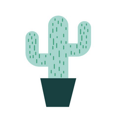 cactus office plant isolated icon vector image vector image