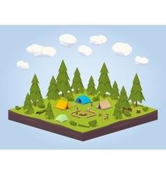 Campsite in the woods vector image