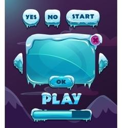 Cartoon winter game user interface vector image