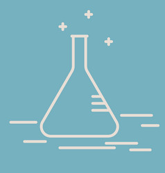 chemical conical flask line icon vector image