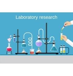 Chemists scientists equipment vector