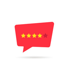 four abstract rating star like positive feedback vector image vector image