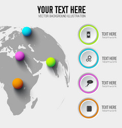 Global web infographic template vector