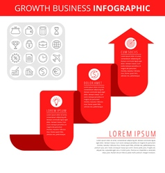 Growth business infographic elements vector