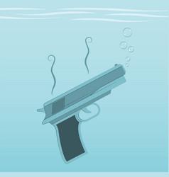 Guns and crime vector
