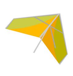 Hang glider cartoon vector