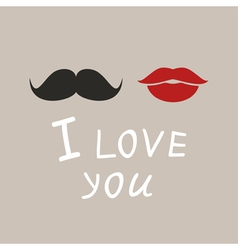 I love you4 vector image