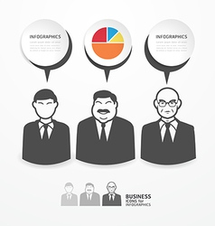 Icons business people with dialog speech bubbles vector