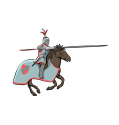 knight at medieval knights tournament vector image