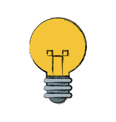 Light bulb idea creative innovation symbol vector