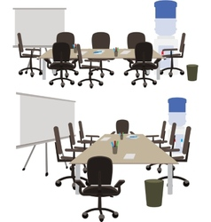 Office space to discuss working ideas vector image
