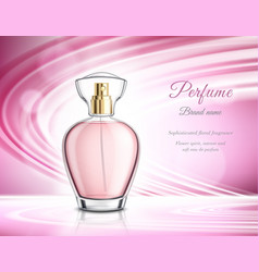 Perfume product realistic advertisement poster vector