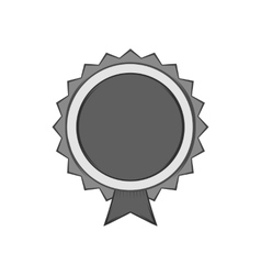 Round label quality icon black monochrome style vector