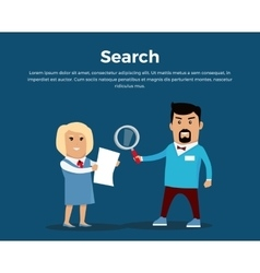Searching concept banner flat vector