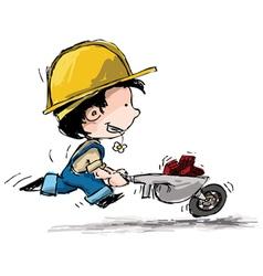 Smiling boy constructor vector