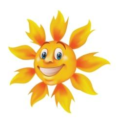 smiling cartoon sun vector image vector image