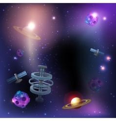 Space Dark Background vector image vector image