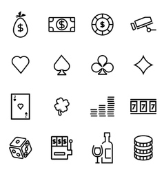thin line icons - casino vector image vector image