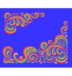 Tracery pattern ethnic colorful harmonious doodle vector