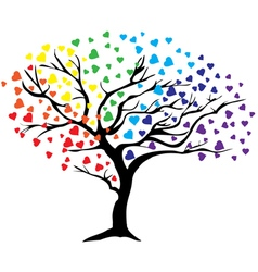 Tree rainbow vector